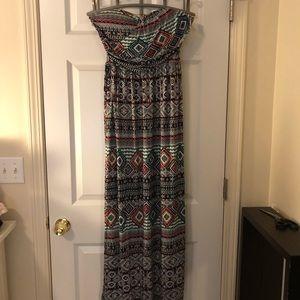 NWT strapless maxi dress